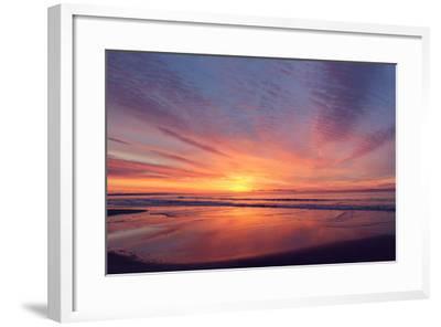 East Beach Sunrise-Zachary Turner Photography-Framed Photographic Print