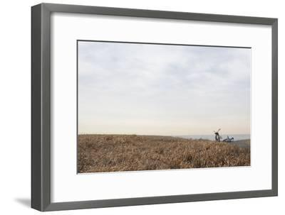 Bicycle that Was Left on the Beach Side-Hiroshi Watanabe-Framed Photographic Print