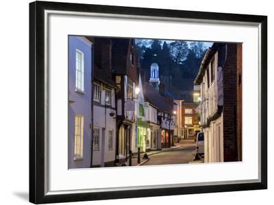 Traditional Street in Godalming is Lit at Dusk-Charles Bowman-Framed Photographic Print
