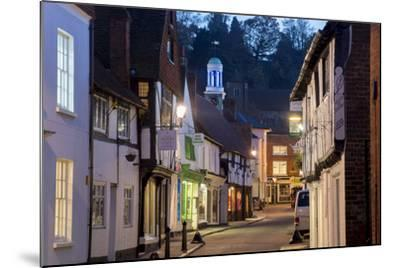 Traditional Street in Godalming is Lit at Dusk-Charles Bowman-Mounted Photographic Print