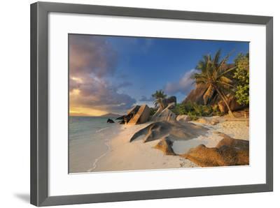 Tropical Island La Digue-Cornelia Doerr-Framed Photographic Print