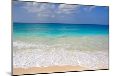 Blue Ocean and White Water Crashing on the Sand.-Alberto Guglielmi-Mounted Photographic Print