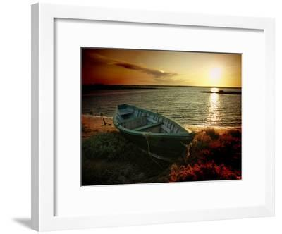 Low Tide and Boat-julioc-Framed Photographic Print