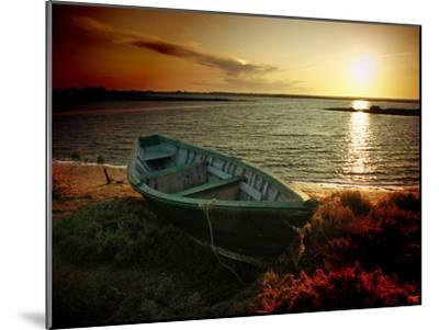 Low Tide and Boat-julioc-Mounted Photographic Print
