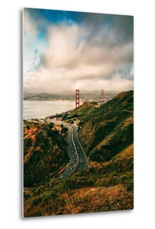 Dreamy Clouds Over The City, Golden Gate Bridge, San Francisco-Vincent James-Metal Print
