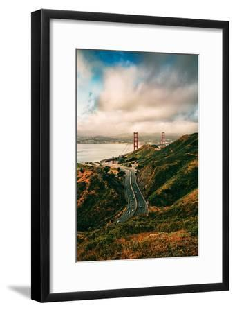 Dreamy Clouds Over The City, Golden Gate Bridge, San Francisco-Vincent James-Framed Photographic Print