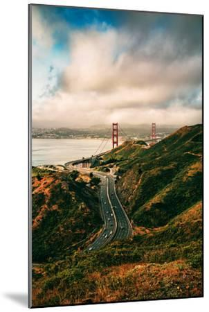 Dreamy Clouds Over The City, Golden Gate Bridge, San Francisco-Vincent James-Mounted Photographic Print