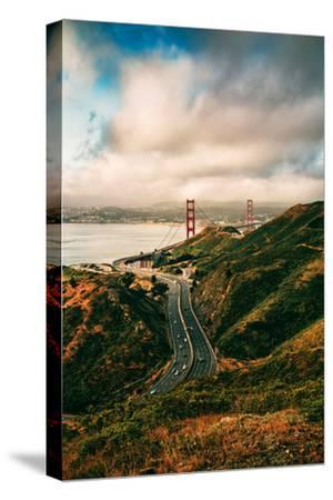 Dreamy Clouds Over The City, Golden Gate Bridge, San Francisco-Vincent James-Stretched Canvas Print