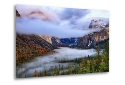 Presence, Clearing Storm and Fog at Tunnel View, Yosemite National Park-Vincent James-Metal Print
