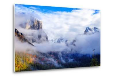 Dreamy Valley, Mist and Fog, El Capitan, Yosemite National Park-Vincent James-Metal Print