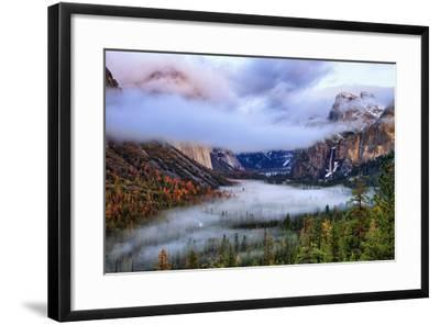 Presence, Clearing Storm and Fog at Tunnel View, Yosemite National Park-Vincent James-Framed Photographic Print