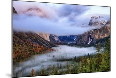 Presence, Clearing Storm and Fog at Tunnel View, Yosemite National Park-Vincent James-Mounted Photographic Print
