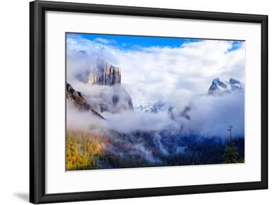Dreamy Valley, Mist and Fog, El Capitan, Yosemite National Park-Vincent James-Framed Photographic Print