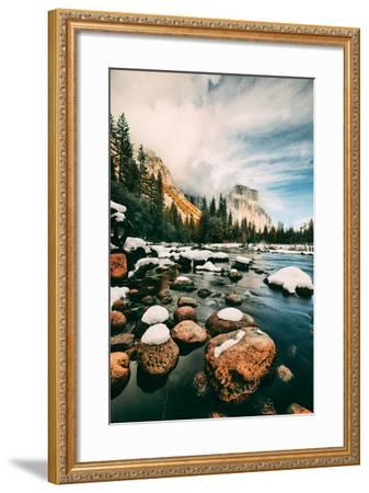 Clearing Storm at Valley View in January, Yosemite Valley, California-Vincent James-Framed Photographic Print