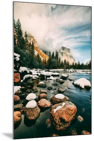 Clearing Storm at Valley View in January, Yosemite Valley, California-Vincent James-Mounted Photographic Print
