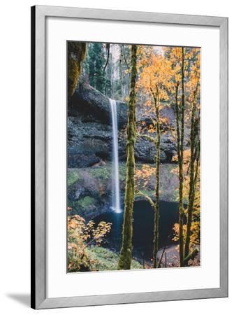 Mystical Autumn Scene at South Falls, Silver Falls State Park, Oregon-Vincent James-Framed Photographic Print