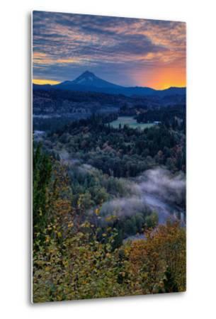 Just Before Sunrise from Jonsrud View, Sandy Oregon, Portland-Vincent James-Metal Print