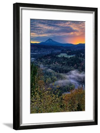 Just Before Sunrise from Jonsrud View, Sandy Oregon, Portland-Vincent James-Framed Photographic Print