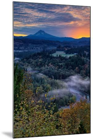 Just Before Sunrise from Jonsrud View, Sandy Oregon, Portland-Vincent James-Mounted Photographic Print