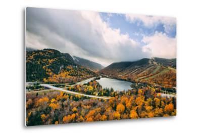 Autumn Lake Scene, White Mountains, New Hampshire-Vincent James-Metal Print