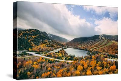 Autumn Lake Scene, White Mountains, New Hampshire-Vincent James-Stretched Canvas Print