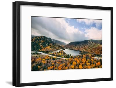Autumn Lake Scene, White Mountains, New Hampshire-Vincent James-Framed Photographic Print