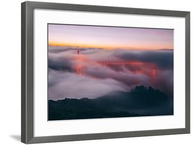 Envelope, Golden Gate Bridge in Fog, San Francisco Bay Area-Vincent James-Framed Photographic Print