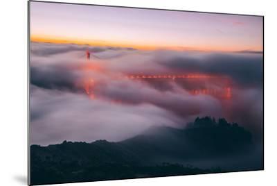Envelope, Golden Gate Bridge in Fog, San Francisco Bay Area-Vincent James-Mounted Photographic Print