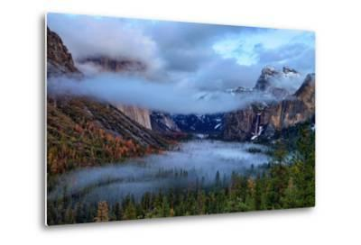 Magical Dreamy Fog at Tunnel View - Yosemite National Park-Vincent James-Metal Print