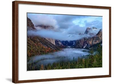 Magical Dreamy Fog at Tunnel View - Yosemite National Park-Vincent James-Framed Photographic Print