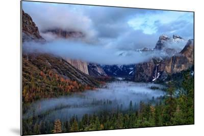 Magical Dreamy Fog at Tunnel View - Yosemite National Park-Vincent James-Mounted Photographic Print