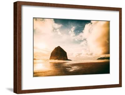 Light and Cloud Magic at Haystack Rock, Cannon Beach, Oregon Coast-Vincent James-Framed Photographic Print