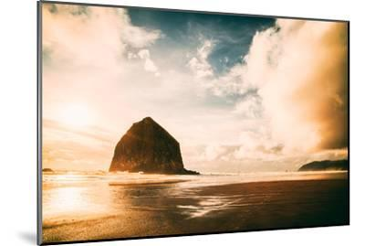 Light and Cloud Magic at Haystack Rock, Cannon Beach, Oregon Coast-Vincent James-Mounted Photographic Print