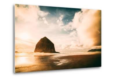 Light and Cloud Magic at Haystack Rock, Cannon Beach, Oregon Coast-Vincent James-Metal Print