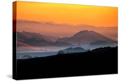 Hills of the Future, Mellow Sun and Hills, Petaluma, Sonoma County-Vincent James-Stretched Canvas Print