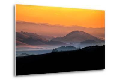 Hills of the Future, Mellow Sun and Hills, Petaluma, Sonoma County-Vincent James-Metal Print