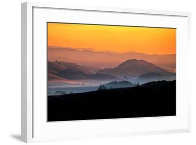 Hills of the Future, Mellow Sun and Hills, Petaluma, Sonoma County-Vincent James-Framed Photographic Print