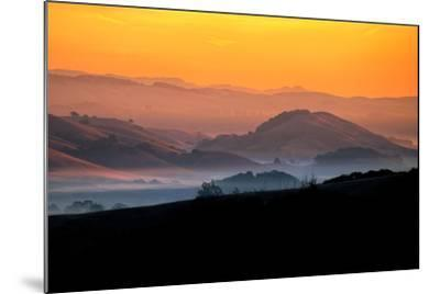 Hills of the Future, Mellow Sun and Hills, Petaluma, Sonoma County-Vincent James-Mounted Photographic Print