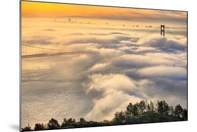 Rolling In, Sunshine and Fog at Golden Gate Bridge, San Francisco Bay Area-Vincent James-Mounted Photographic Print