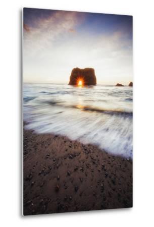 Arch Star and Beach Scene, Mendocino Coast, Northern California-Vincent James-Metal Print