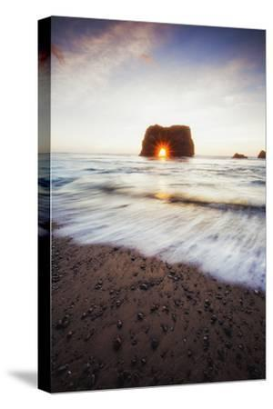 Arch Star and Beach Scene, Mendocino Coast, Northern California-Vincent James-Stretched Canvas Print