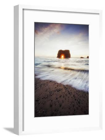 Arch Star and Beach Scene, Mendocino Coast, Northern California-Vincent James-Framed Photographic Print