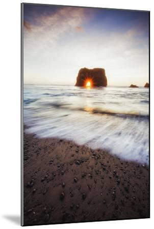 Arch Star and Beach Scene, Mendocino Coast, Northern California-Vincent James-Mounted Photographic Print