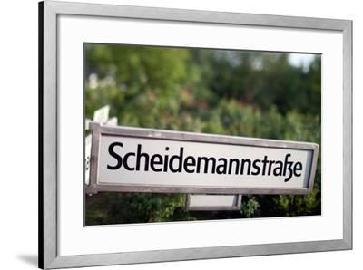 Road Sign Berlin-Felipe Rodriguez-Framed Photographic Print