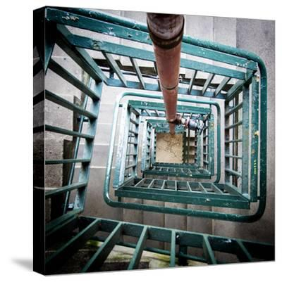 Internal Stairwell in Modern Building-Craig Roberts-Stretched Canvas Print