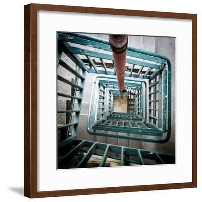 Internal Stairwell in Modern Building-Craig Roberts-Framed Photographic Print