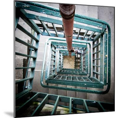 Internal Stairwell in Modern Building-Craig Roberts-Mounted Photographic Print