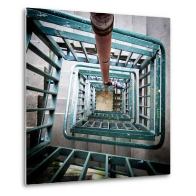 Internal Stairwell in Modern Building-Craig Roberts-Metal Print