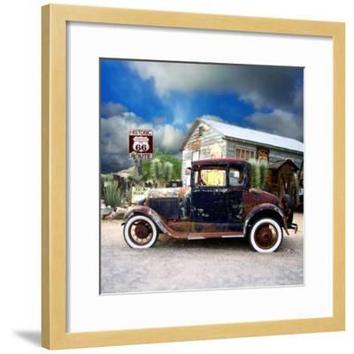 Old Rusty Car in America-Salvatore Elia-Framed Photographic Print