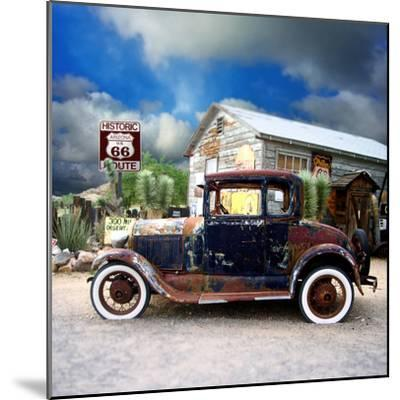 Old Rusty Car in America-Salvatore Elia-Mounted Photographic Print